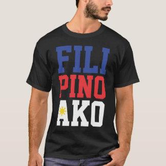 Camiseta Filipino Ako (parte dianteira & parte traseira)