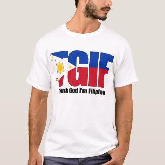 Camiseta Filipino de TGIF com bandeira filipino