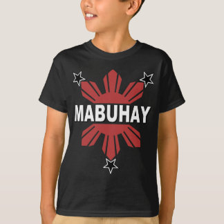 Camiseta Filipino Sun de Mabuhay e estrela
