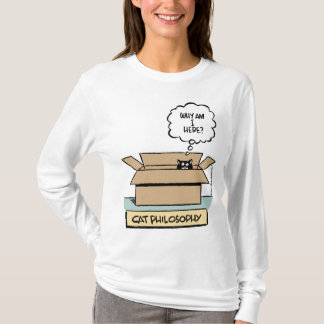 Camiseta Filosofia do gato - luva longa das senhoras