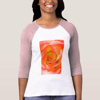 Camiseta Fim-acima cor-de-rosa da laranja