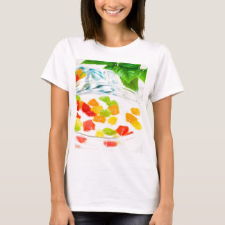 Camiseta Fim-acima da vista na farinha de aveia com