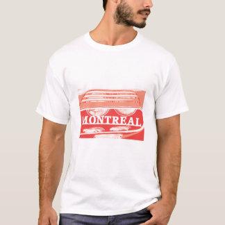 Camiseta Fim-acima do farol de Montreal do alfa com roteiro