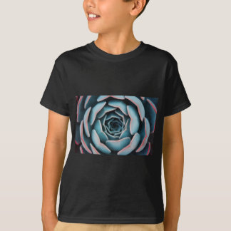 Camiseta Fim-Acima macro da flor que surpreende o impressão