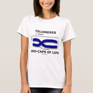 Camiseta Fim-Bonés de Telomeres da vida (humor da biologia)