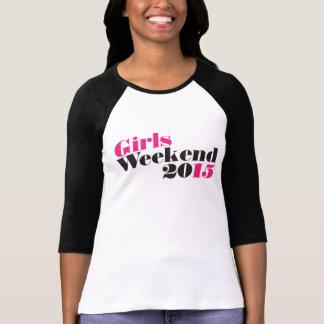Camiseta Fim de semana 2015 das meninas