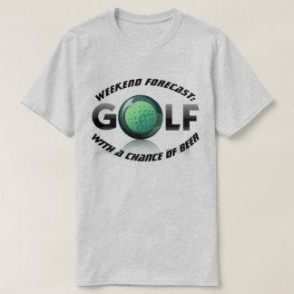 """Camiseta Fim de semana do divertimento """"previsto: Golfe com"""