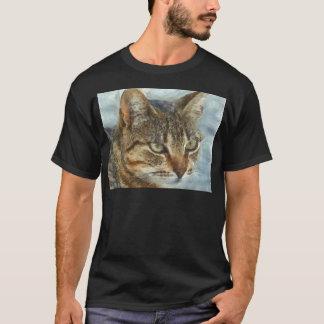 Camiseta Fim impressionante do gato de gato malhado acima