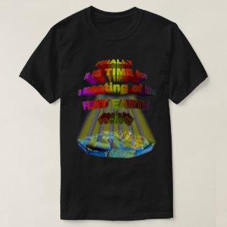 Camiseta Finalmente, reunião da SOCIEDADE LISA da TERRA