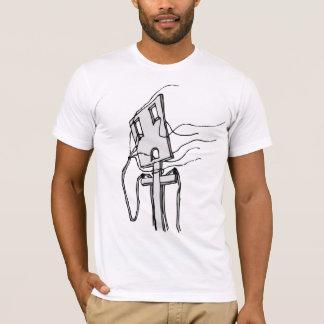 Camiseta Fios ao vento/ajustado magro
