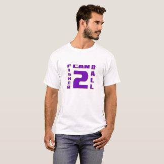 Camiseta Fisher pode o t-shirt dos homens gráficos da bola