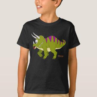 Camiseta Fishfry projeta o t-shirt escuro do Triceratops