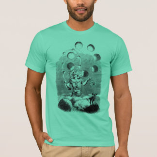 Camiseta Físico que manipula com os planetas