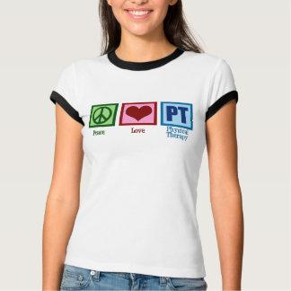 Camiseta Fisioterapeuta da pinta do amor da paz