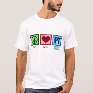 Camiseta Fisioterapeuta do amor da paz