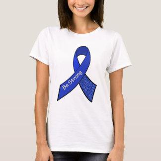 Camiseta Fita azul da consciência ME/CFS do guerreiro forte