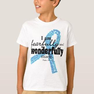 Camiseta Fita azul do apoio