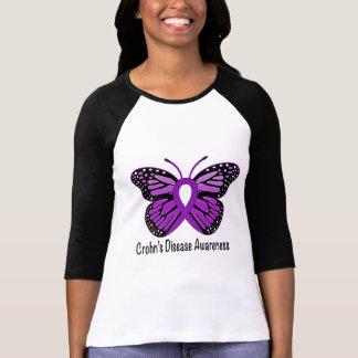 Camiseta Fita da consciência da borboleta da doença de