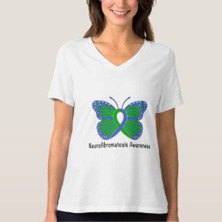 Camiseta Fita da consciência da borboleta do