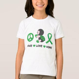 Camiseta Fita da consciência do verde da esperança do amor