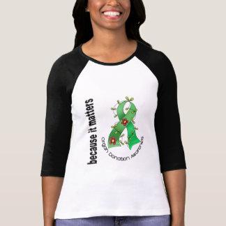 Camiseta Fita da flor da doação de órgão