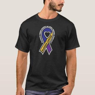 Camiseta Fita do cancer de bexiga A305 nenhuma arma