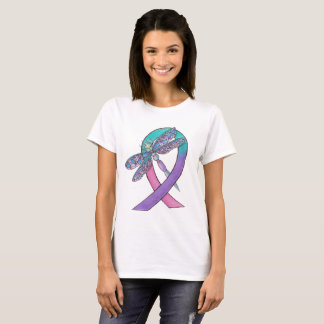Camiseta Fita do cancer de tiróide