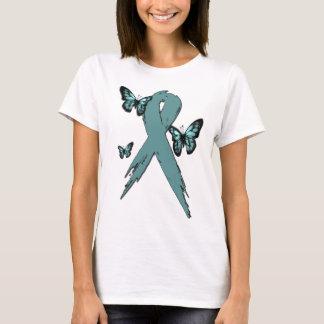 Camiseta Fita do cancro do colo do útero