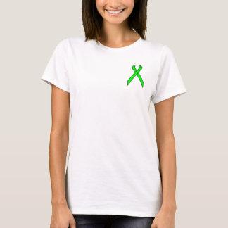 Camiseta Fita do padrão do verde limão