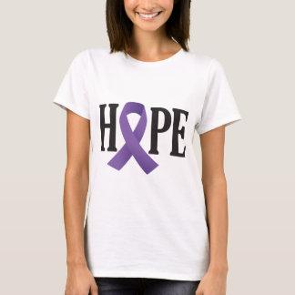 Camiseta Fita do roxo da esperança