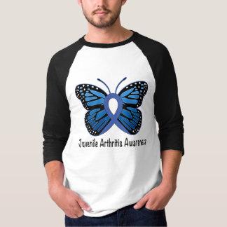 Camiseta Fita juvenil da borboleta da artrite