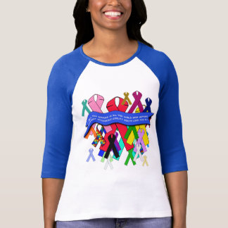 Camiseta Fitas da consciência para cuidados médicos