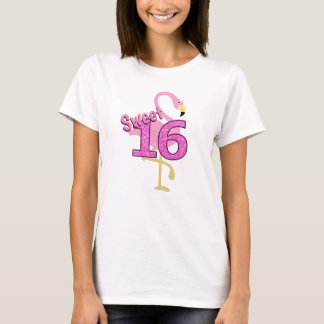 Camiseta Flamingo do doce dezesseis