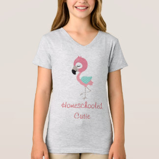Camiseta Flamingo Homeschooled Cutie