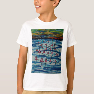 Camiseta Flamingos no lago salgado