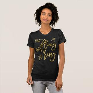 Camiseta Fling do último do efeito da folha de ouro antes