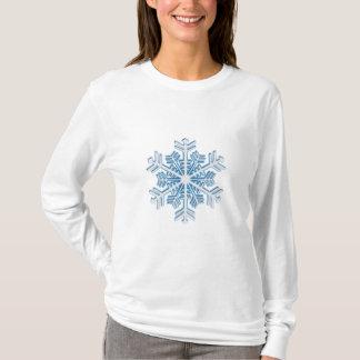 Camiseta Floco de neve azul gelado clássico do Natal do