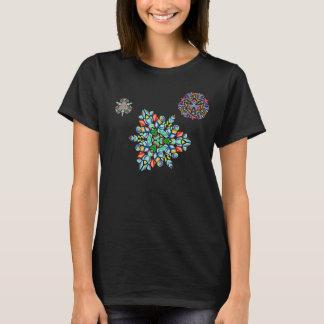 Camiseta Flocos de neve de cristal no ar de noite (t-shirt)