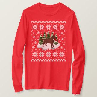 Camiseta Flocos de neve do Evergreen do Natal de Labrador