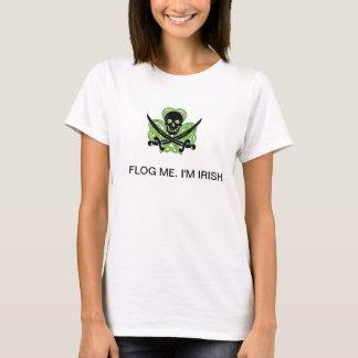 Camiseta Flog me. Eu sou T irlandês do tanque