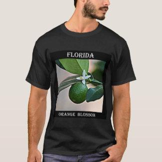 Camiseta Flor alaranjada de Florida e laranja pequena