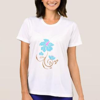 Camiseta Flor azul simples
