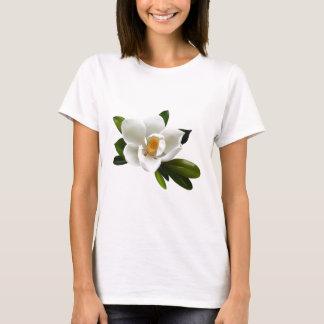 Camiseta flor branca da magnólia