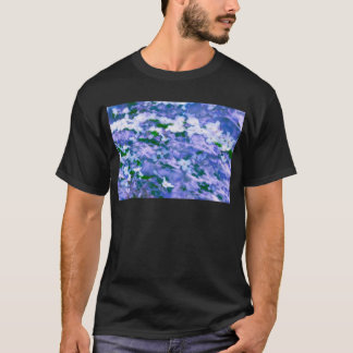 Camiseta Flor branca do Dogwood no azul