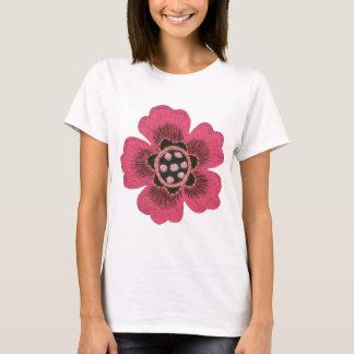 Camiseta Flor cor-de-rosa