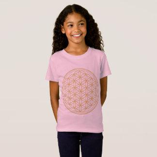 Camiseta Flor cor-de-rosa das meninas do t-shirt da vida