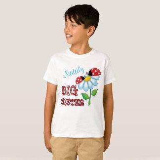 Camiseta Flor da margarida do joaninha da irmã mais velha