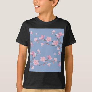 Camiseta Flor de cerejeira - azul da serenidade