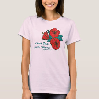 Camiseta Flor de estado de Havaí, t-shirt do hibiscus