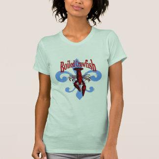 Camiseta Flor de lis azul afligida, lagostim fervido